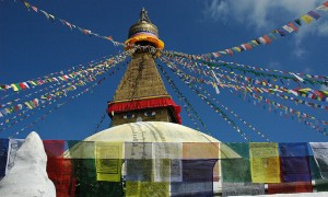 仏教の神秘を見る。ネパールのカトマンズ