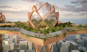 ニューヨークの空に広がる未来空中都市計画「City in the sky」