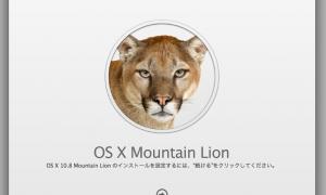話題のOS X Mountain Lionをインストールして使った感想。