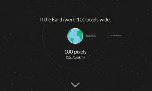 地球から火星までの距離を表現したインフォグラフィックが面白い!